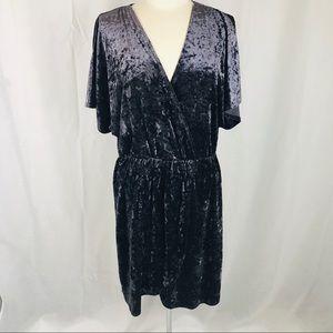 Xhilaration Dusty Purple Velvet M Dress